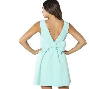 Sail To Stable Mint Bow Dress